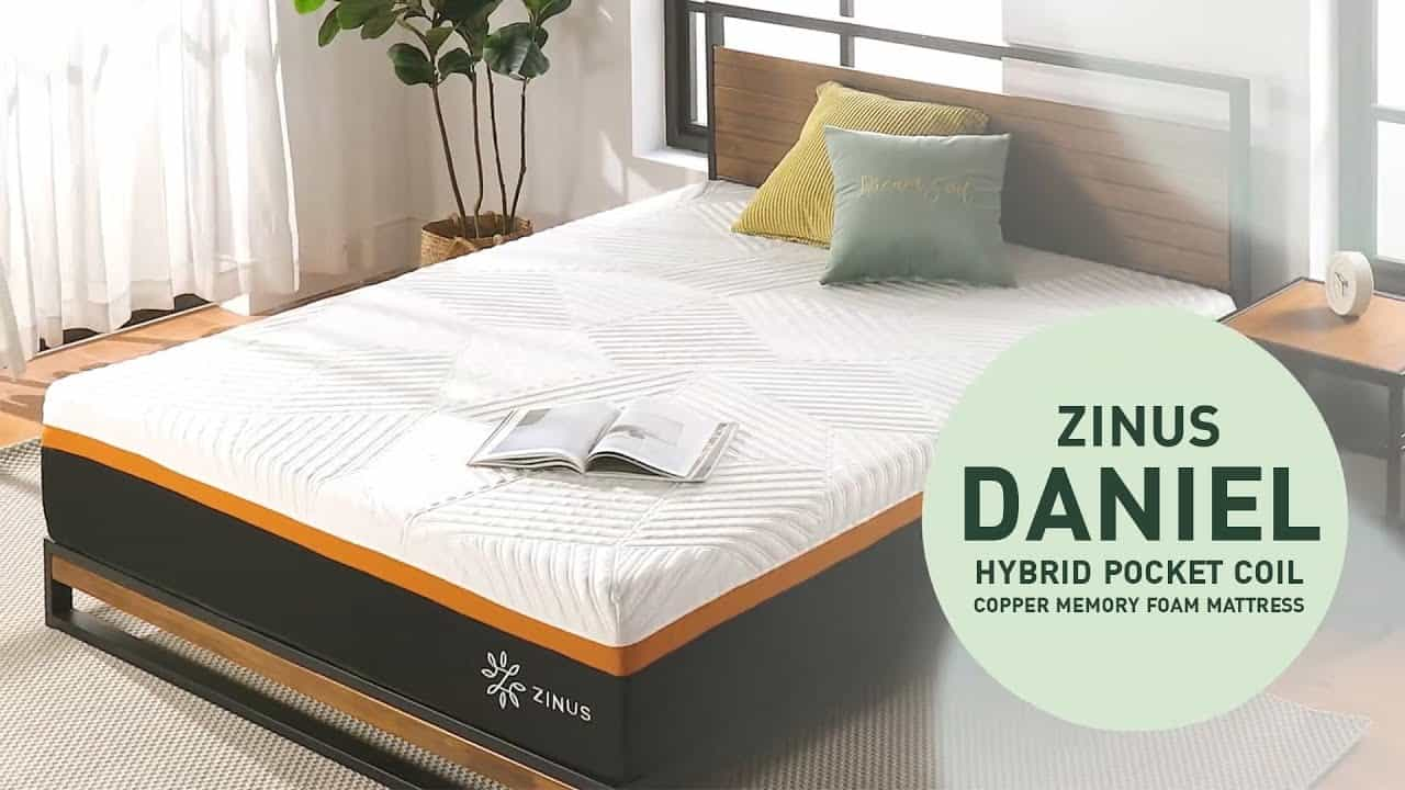 ที่นอน Zinus รุ่น DANIEL :: Hybrid Pocket Spring Copper Memory Foam